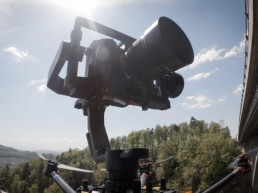 Brückeninspektion Detail von Drohne